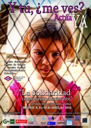 Cartel Jornadas sobre Migraciones y exilios